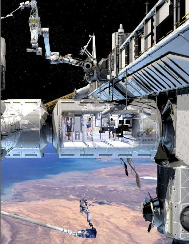 Image: Artist's rendering of the international space station