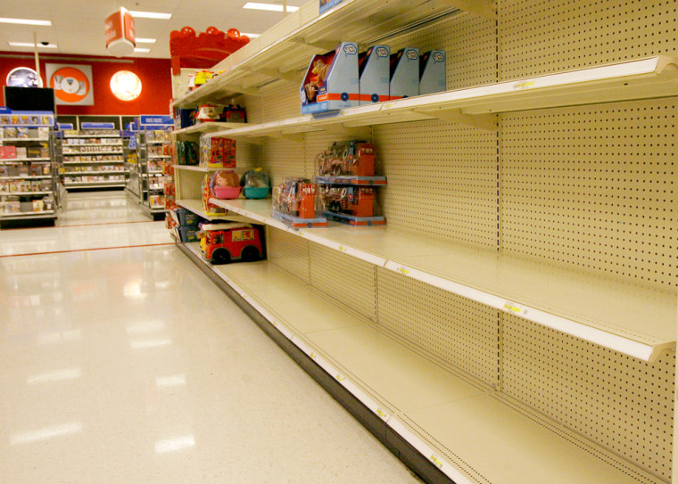 Image: Empty toy shelves