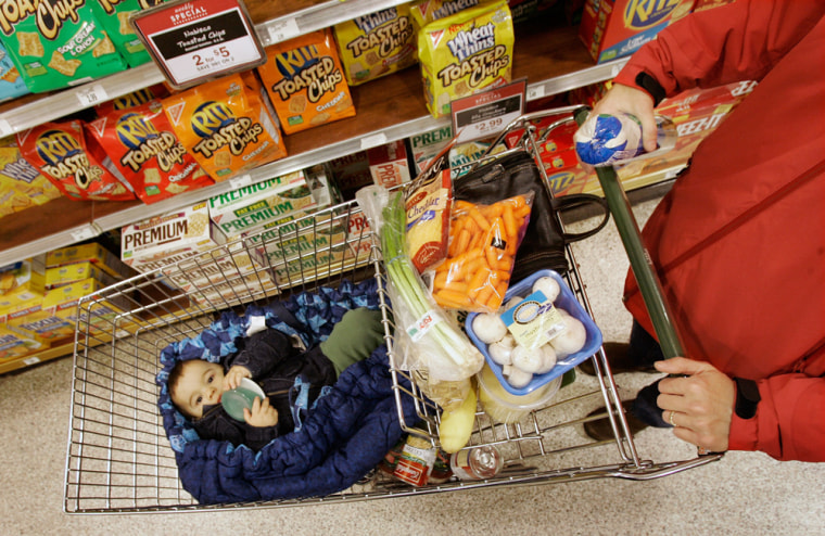 Image: Woman shopping for groceries