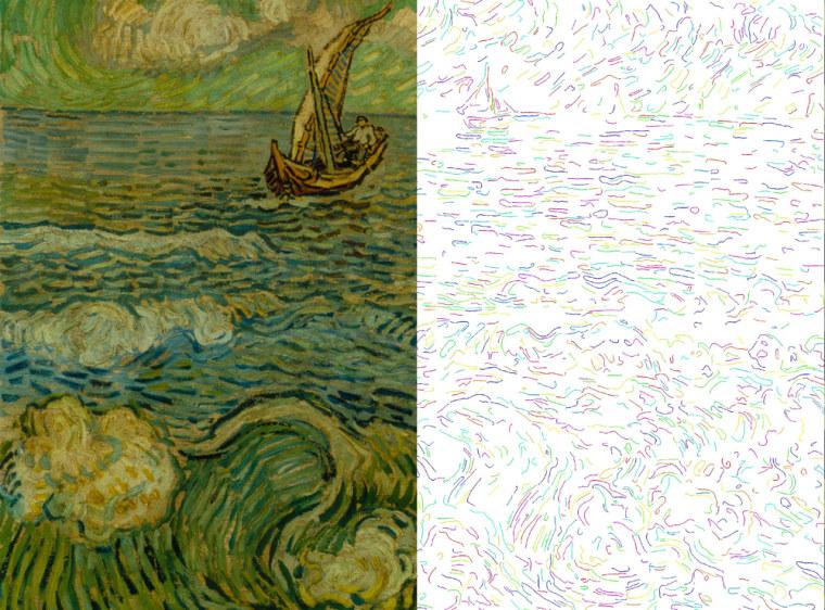 """Image: The Sea at Saintes-Maries"""" forgery"""