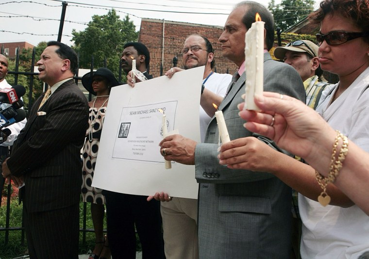 Image: Vigil outside St. Barnabas Hospital