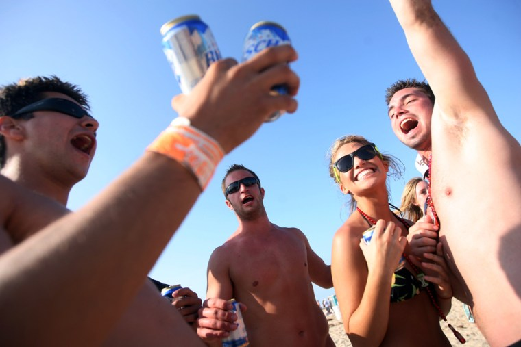 Image: Spring Break Revelers Flock To Texas's South Padre Island