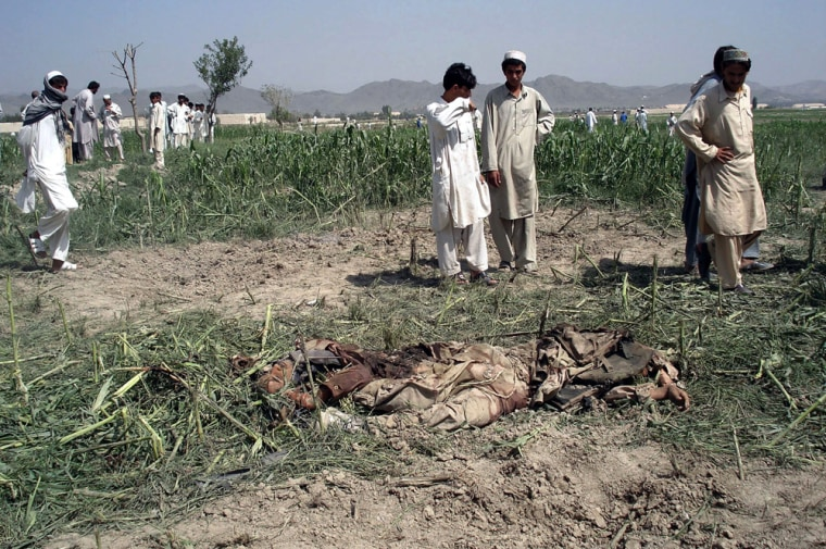Image: Bodies of suicide bombers after their attack.