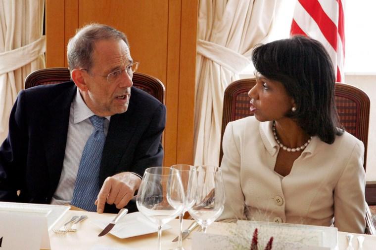 Image: Condoleezza Rice and Javier Solana