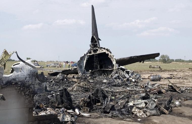 Image: Crash site of a Boeing 737 passenger jet near the Kyrgyz capital Bishkek