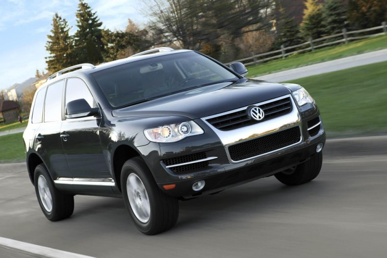 The government is offering a tax credit on some diesel vehicles that could save buyers thousands, like the Volkswagen Touareg V10 TDI shown here.
