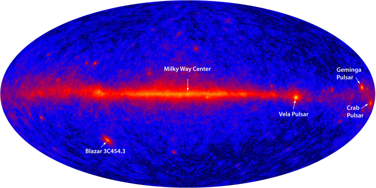 Image: Gamma-ray map