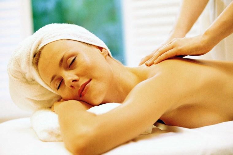 Image: Woman being massaged
