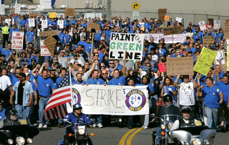 Image: Boeing machinists