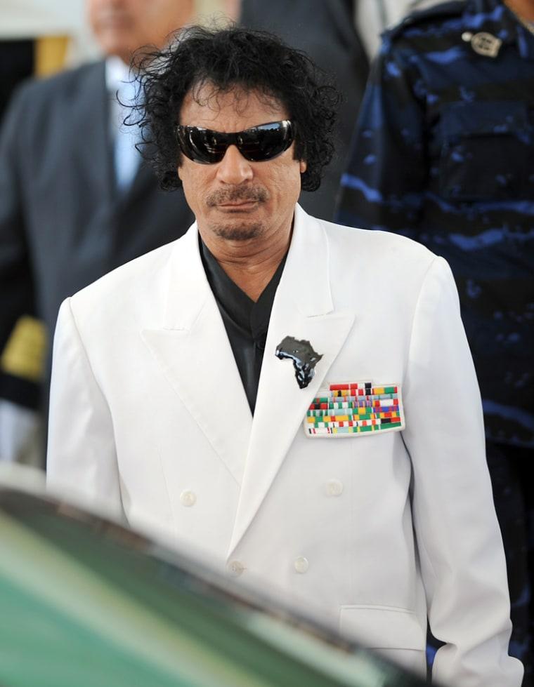 Imge: Libyan leader Moamer Kadhafi