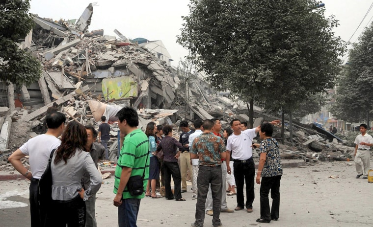 Image: Collapsed middle school