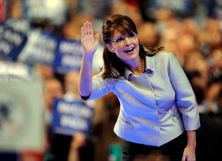 Image: Republican Vice-presidential candidate Sarah Palin