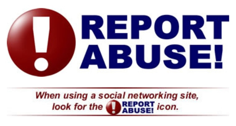 The popular social networking Web site Facebook has agreed to test replacing its own link for reporting abuse with a bigger one developed by the New Jersey Attorney General's Office.