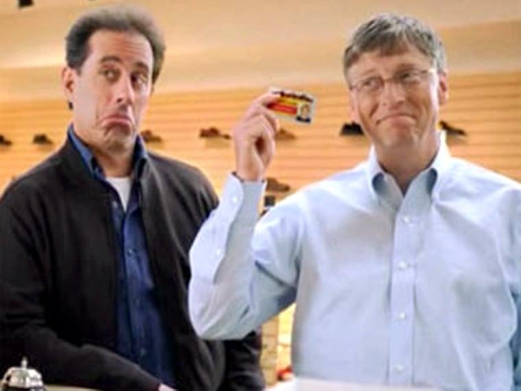 Image: Jerry Seinfeld, Bill Gates