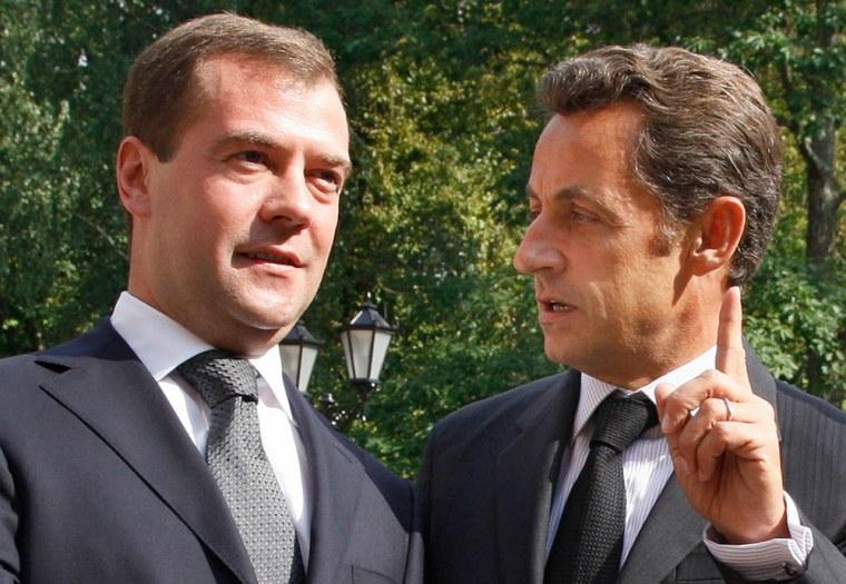 Image: Dmitry Medvedev, Nicolas Sarkozy