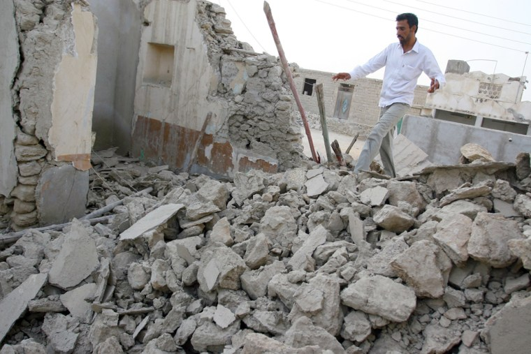 Image: Earthquake destroyed house in Iran