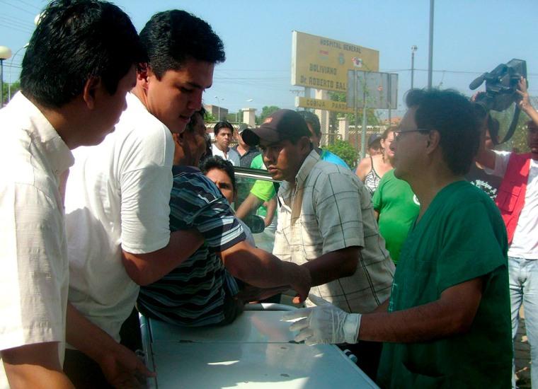 Image: Injured Cobija citizen