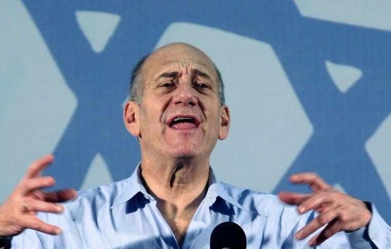 Image: Israel's Prime Minister Ehud Olmert