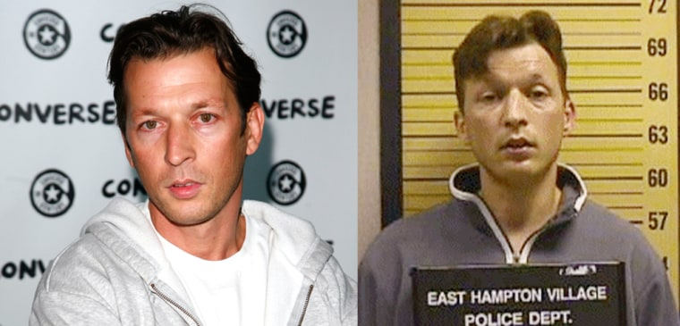 Left, Christopher Rocancourt attends a celebrity event on September 4, 2008 in Paris, France. Right, Christopher Rocancourt poses for a police mug shot in 2000 after getting arrested in East Hampton Village, N.Y. Rocancourt was accused of using various aliases to defraud people in the United States and Europe.