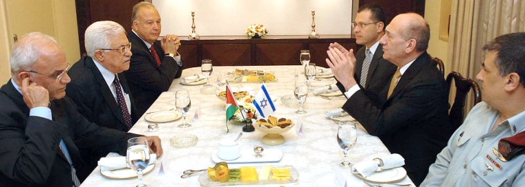 Image: Olmert and Abbas