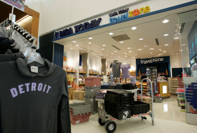 Image: A USA Today Travel Zone store at Detroit Metropolitan Airport