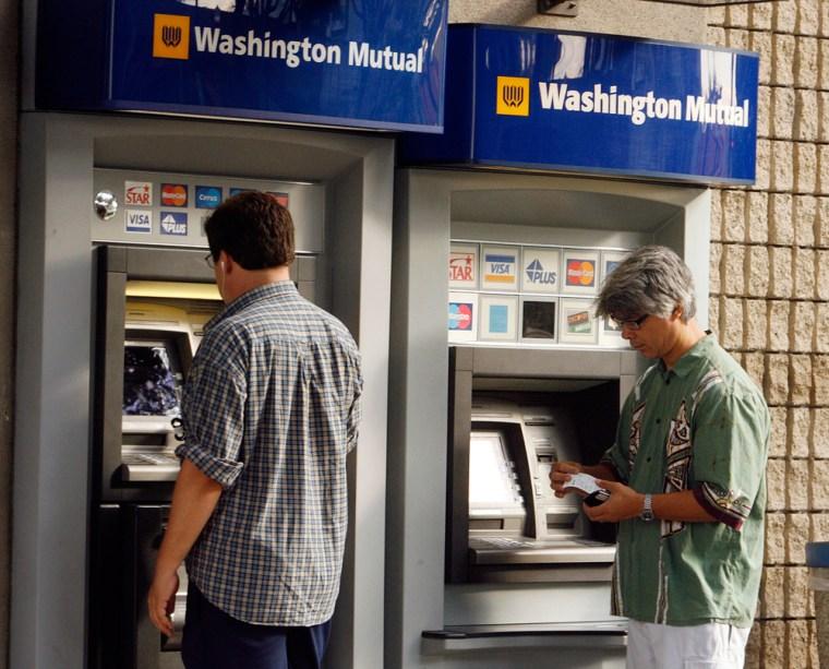 Image: Washington Mutual ATM machines