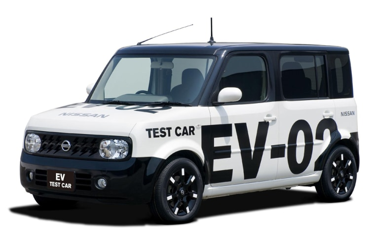 Nissan is testing a new electric motor powered by lithium-ion batteries in this boxy small car called the Cube.
