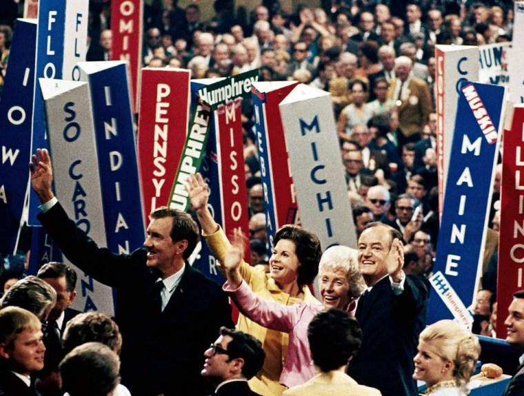 Image: Hubert Humphrey at the 1968 Democratic Convention