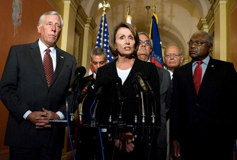 Image: Nancy Pelosi, Steny Hoyer, Barney Frank, Rahm Emanuel,