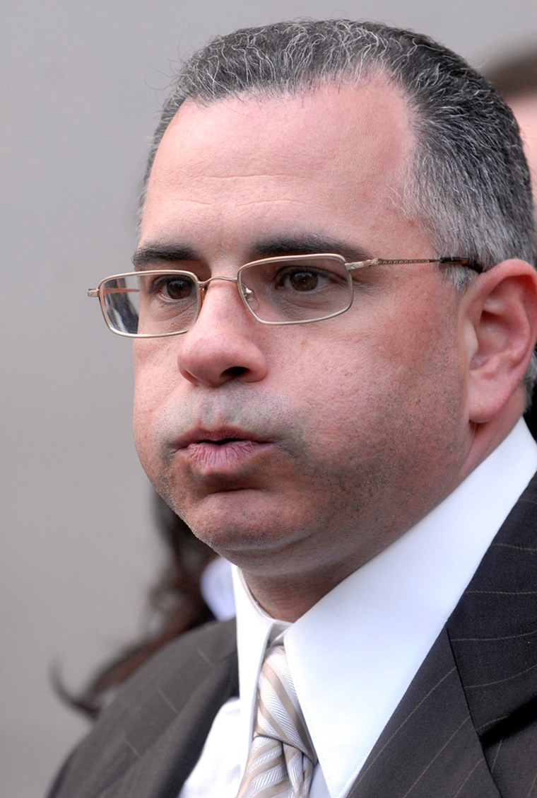 "Image: John \""Junior\"" Gotti  outside U.S. Federal Court in New York"