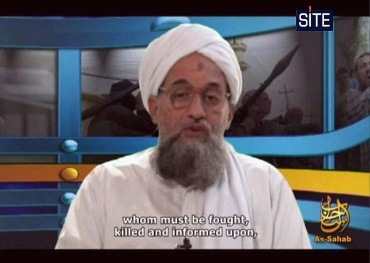 Image: Al-Qaeda number two Ayman al-Zawahiri