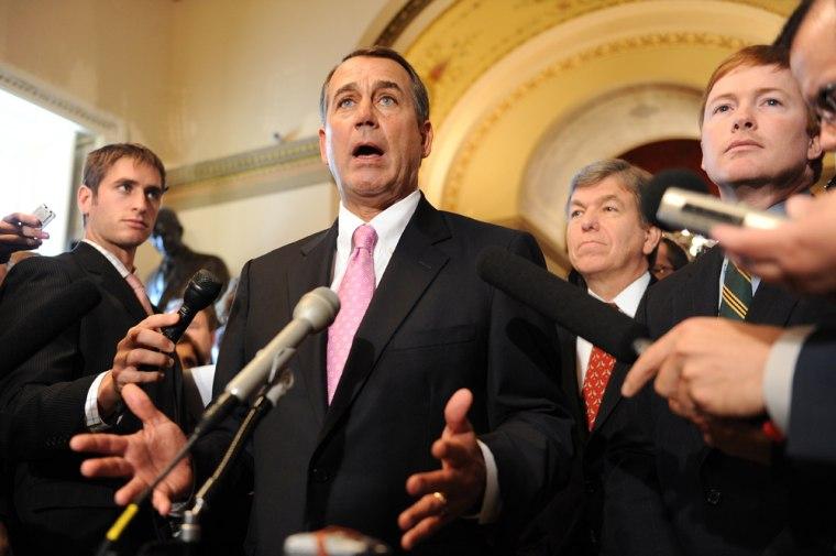 Image: US House Minority Leader John Boehner