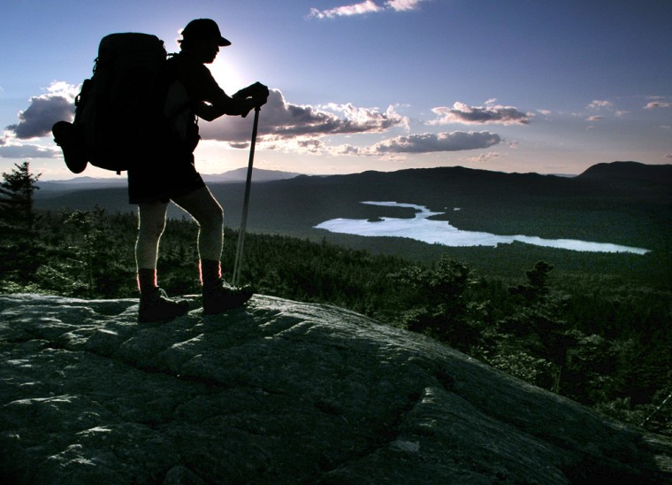 Image: Man hikes along the Appalachian Trail