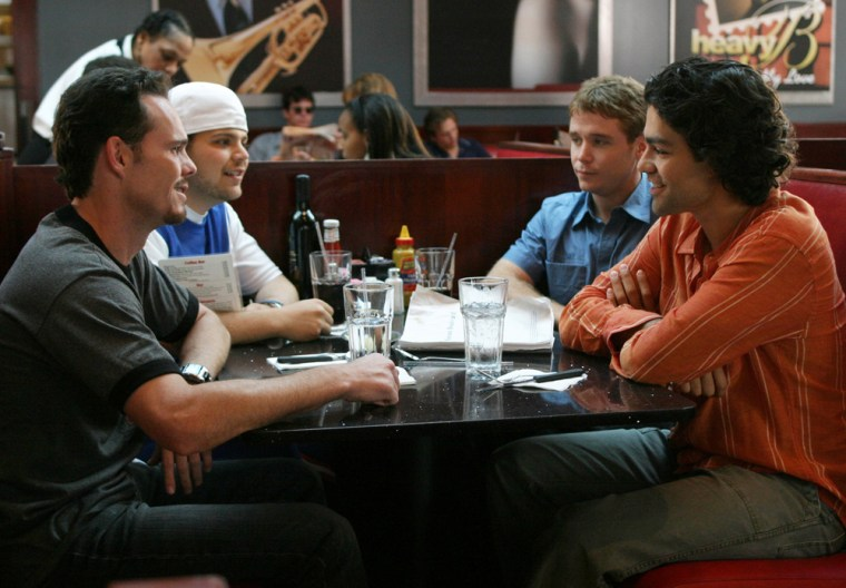 """Image: Cast members of HBO's """"Entourage"""""""
