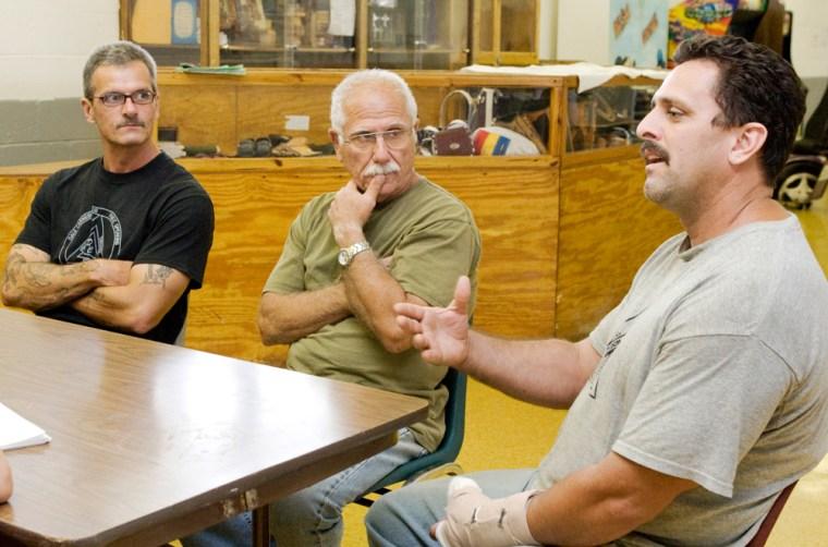 Image:  Mark Burge, left, Peter Mule, center, and Joe Greco