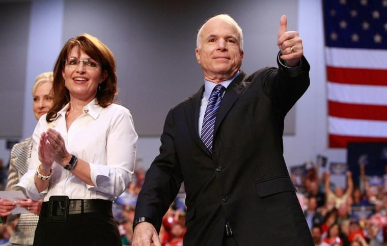 Image: John McCain and Sarah Palin