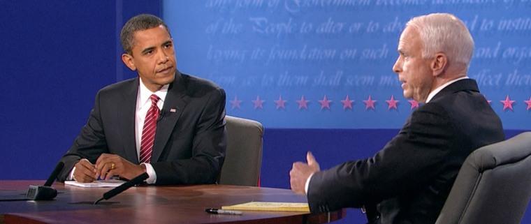 Image: Sen. Barack Obama and Sen. John McCain