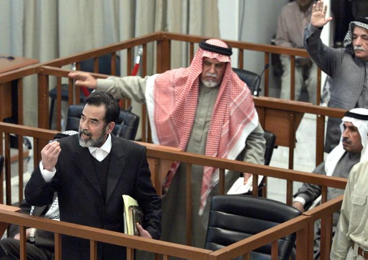 Image: Trial of Saddam Hussein