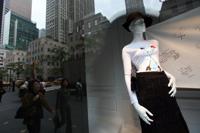 Image: A store window display at Saks Fifth Ave