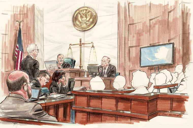 Image: Stevens in court