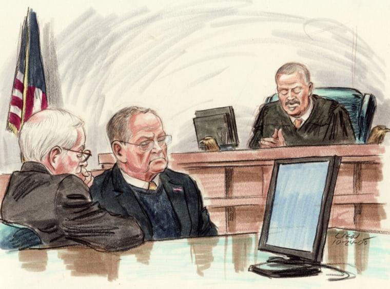 Image: Courtroom sktech
