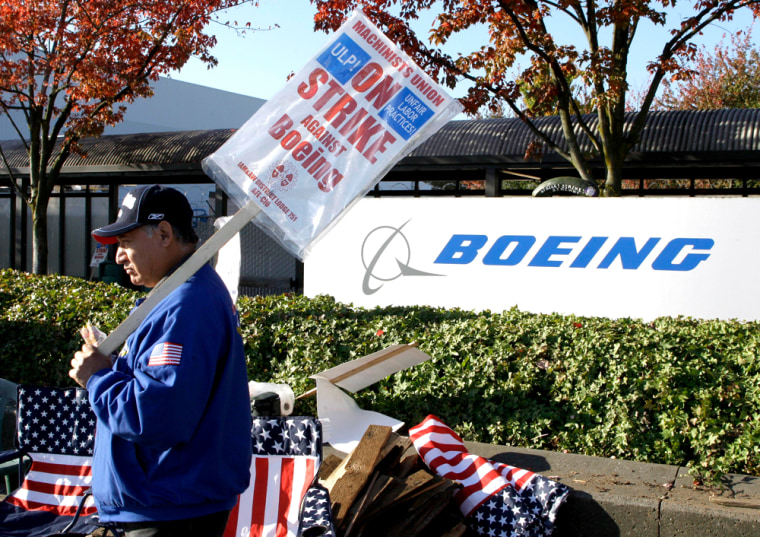 Image: Boeing strike