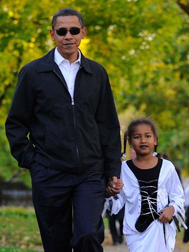 Image: Barack Obama with his daughter Sasha