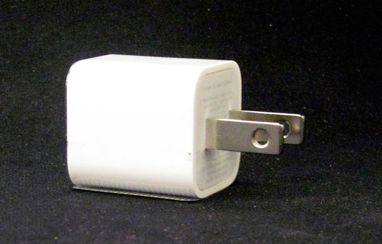 Image: An Apple Ultracompact USB Power Adapter