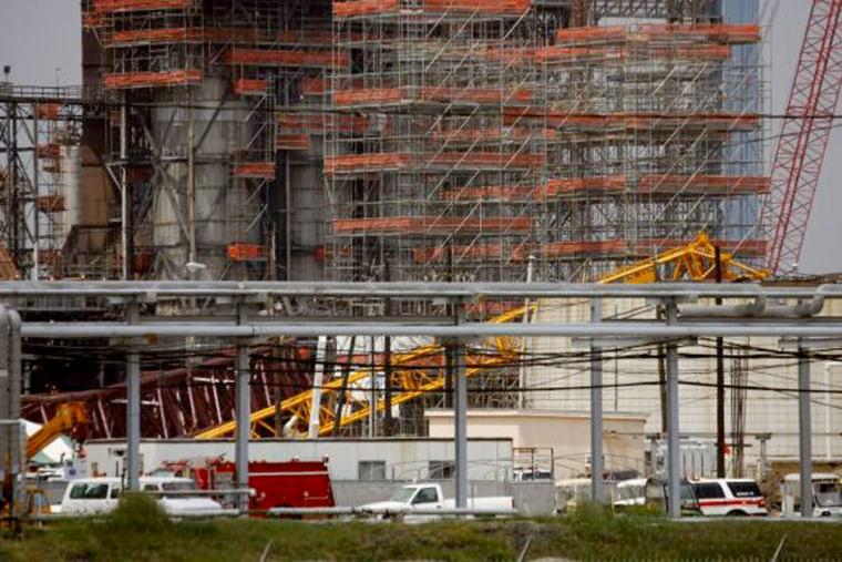 Image: Crane collapse.