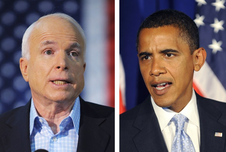 Image: John McCain and Barack Obama