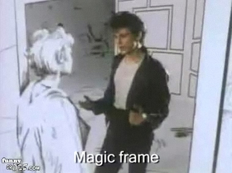 """Image: Literal """"Take on me"""" video"""