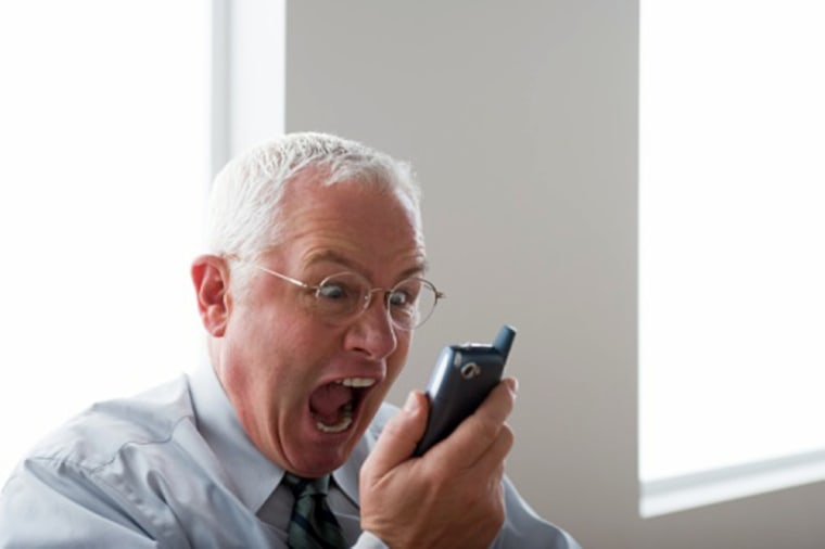 Image: Angry businessman
