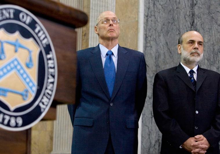 Image:U.S. Secretary of Treasury Paulson talks about financial markets at the Treasury Department in Washington