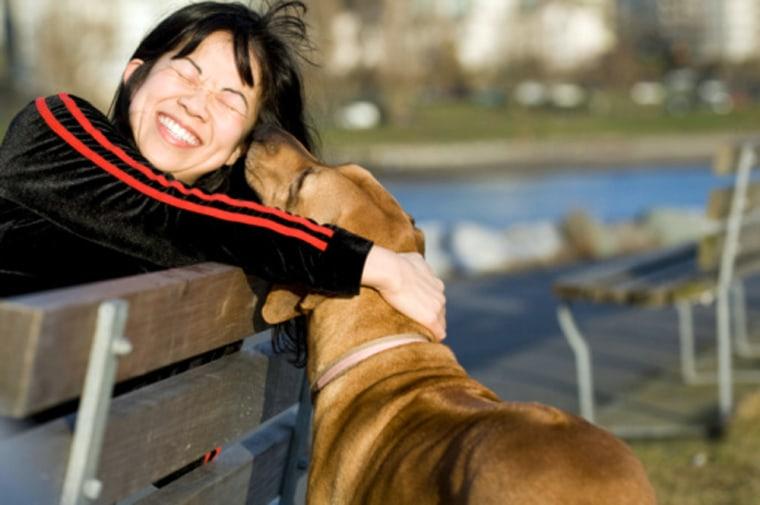 Image: Woman and dog